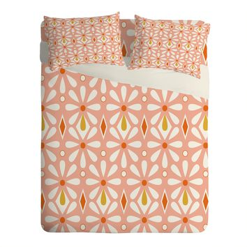Heather Dutton Fleurette Radiant Sheet Set Lightweight