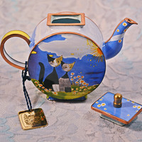 FREE SHIPPING Charlotte Di Vita Teapot, Rosina Wachtmeister, Trade Plus Aid Collectible Miniature, Numbered Edition Collectible