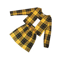 Cher's Yellow Tartan Plaid Two Piece Set Clueless Outfit Cher Clueless Womens Fashion Clothes Check Skater High Waist Skirt Co-ord Twin Set