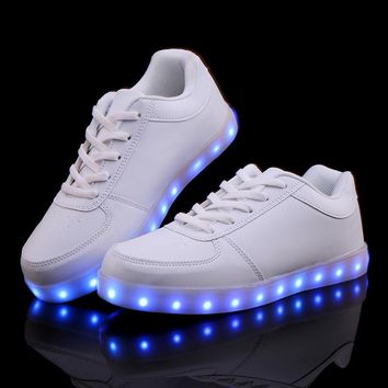 Led Shoes For Adults 8 Colors Luminous Led Shoes Light Up Women Casual Shoes Colorful