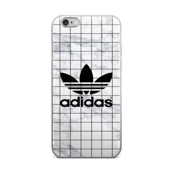 Adidas Logo Mathematics Graph Paper Math Paper White Marble Stone iPhone 4 4s 5 5s 5C