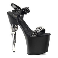 BONDGIRL-712 Gun Heel High Platform Stripper Shoe