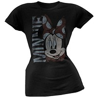 Minnie Mouse - Minnie Bow Juniors Slouch T-Shirt
