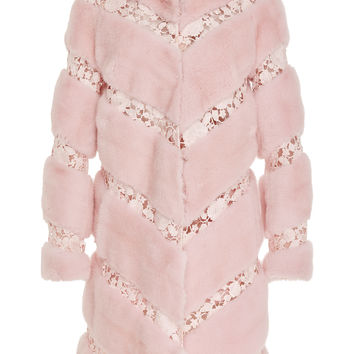 Mink Coat with Macramé Detail | Moda Operandi