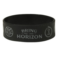 Bring Me The Horizon Unholy Symbols Rubber Bracelet