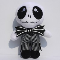 Free shipping The Nightmare Before Christmas 9inch 22cm Pumpkin prince jack plush toy cute stand Skull Jake doll