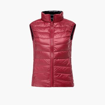 New PGM Golf Clothing for Women Feather Waistcoat Double Coat Slim Down Vest