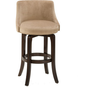 4294 Napa Valley Swivel Counter Stool - Textured Khaki Fabric - Free Shipping!