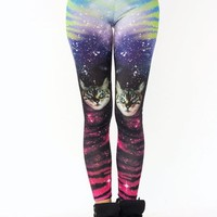 galaxy-cat-leggings GREENPURPLE - GoJane.com