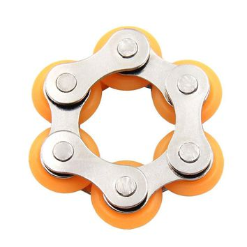 Roller Bike Chain Fidget Toy (Orange)