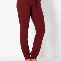Burnt Orange Relaxed Twill Jogger | Joggers | rue21