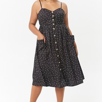 Plus Size Polka Dot Cami Dress