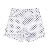 Simple Basic Polka Dotted Shorts