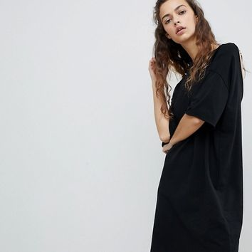 ASOS T-Shirt Dress with Rose Embroidery at asos.com