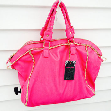 Hot Pink Wine Purse - Serves 5 Liter Bag of Wine