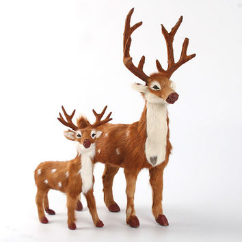 Christmas Decoration for Home Living Room,Desktop, Xmas Reindeer 20cm 36cm,Christmas Deer Crafts,decoracion de navidad 2016