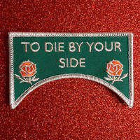 To Die By Your Side Embroidered Patch The Smiths Morrissey Salford Lads Club The Queen is dead