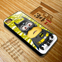 despicable me minions batman superman captain america and green lantern iphone 4 4s, iphone 5 5s 5c, iPod touch 4, iPod 5 case cover