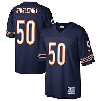 Mike Singletary New England Patriots Mitchell & Ness Navy Replica Jersey