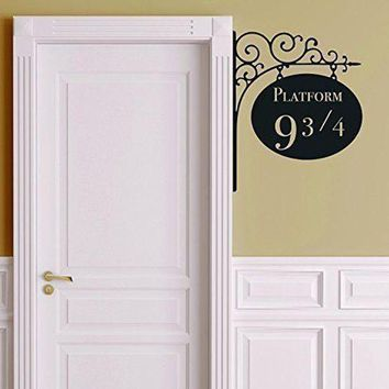 VOND4H Creative Platform 9 3/4 Harry Potter Door Decor Sticker Artistic Wall Stickers For Kids Rooms  A2186