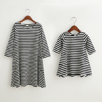 Striped Mommie & Me Dress