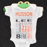 Subway Art Baby Boy Bodysuit - Embellished Gerber Onesuit - The Perfect New Parent Gift! Pittsburgh Steelers / Penguins / Pirates