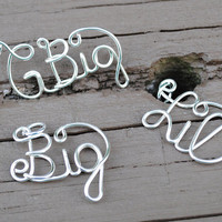 Wire Necklace Charms G Big, Big and Lil Sorority College Charms