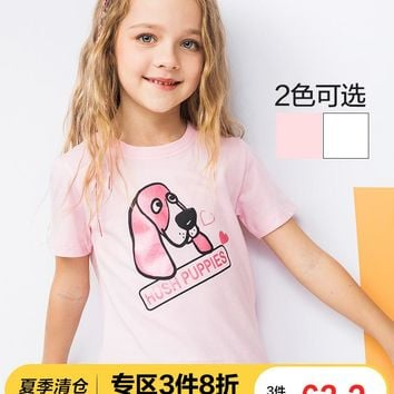 Puppy Girl T-shirt Summer Dress 2019 New Kids Short-sleeved T-shirt Girls Half-sleeved T-shirt Top