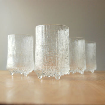 Set of 4 Iittala Ultima Thule Large Tumblers Glasses