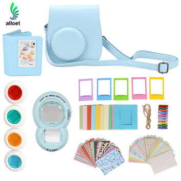 7 in 1 Instant Film Camera Accessories Bundles for Fujifilm Instax Mini 8 (Case/ Sticker/Album/ Frames/ Lens/ Filters/ Straps)