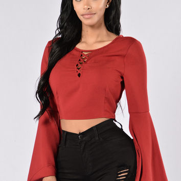 Ring The Bell Top - Burgundy