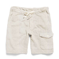 Thorpe Gym Short in Eggshell Mix