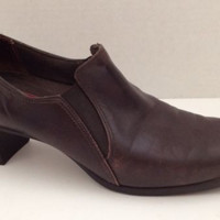 Munro Shoes Womens Size 7.5 M Brown  Oxford Leather Heels Made in USA 7 1/2