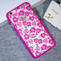 Rose Lace Clover Leaf Case Cover for iPhone 5s 6 6s Plus Gift