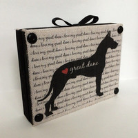 I Love My Great Dane Decorative Wooden signs, Shelf Sitter. Rustic Country Signs For The Home.