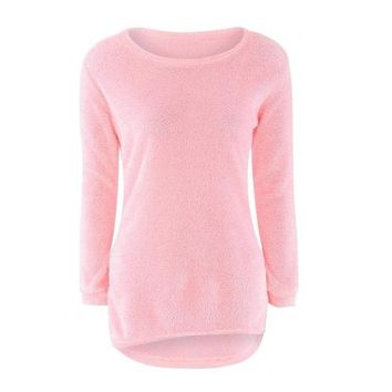 MUQGEW 2017 Best Sale Womens Casual Solid Long Sleeve Jumper Sweaters christmas sweater winter clothes women chandail femme