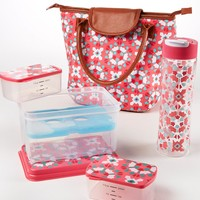 Fit & Fresh Avery Fuchsia Floral Burst Lunch Kit with Tritan Water Bottle | Dillards