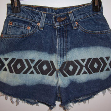 Vintage Tribal High Waisted Denim Levis by BohoJane on Etsy