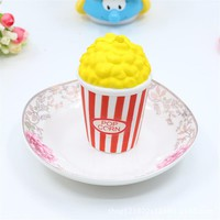 1pc Cute Popcorn Car Ornaments Auto Meter Ornaments Car Interior Decoration Cartoon Popcorn Squishy Toys for Kids Car Styling