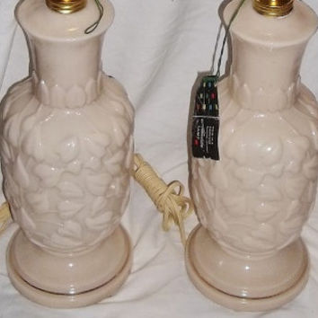 Vintage Pair ALLADIN Table Lamps, mib, orig boxes, ca1940