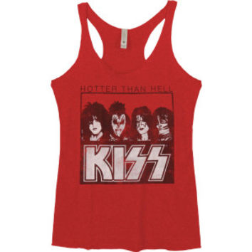 KISS Hotter Than Hell Womens Tank - KISS - K - Artists/Groups - Rockabilia