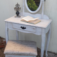 Vanity Stool Mirror Desk Shabby French Country Victorian LOcAl PiCK Up OnLY