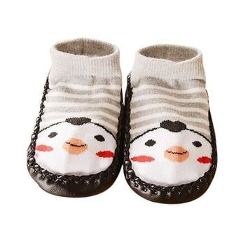 NOVO5 Cartoon Kids Toddler Baby Anti-slip Sock Shoes Boots Slipper Socks baby shoes shoe  for kids