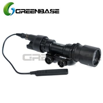 Greenbase Tactical SF M951 Scout Light Weapon Light Constant&Momentary CREE LED Flashlight Super Bright Fit M4 M16 Hunting Rifle
