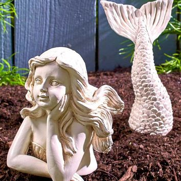 The Lakeside Collection 2-Pc. Mermaid Garden Statue