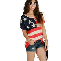 Sale- Red Stars And Stripes Sweater