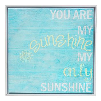 Monika Strigel ''You Are My Sunshine'' Wall Art and White Frame