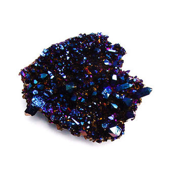 Royal Blue Cobalt Flame Aura Quartz Crystal Cluster #42 THIRD EYE