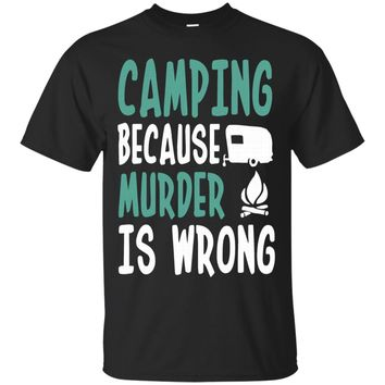 Camping Because Murder Is Wrong Camping Van - Men's T-Shirt----XYLSBHI