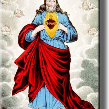 The Sacret Heart of Jesus Picture on Acrylic , Wall Art Décor, Ready to Hang!
